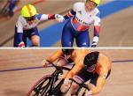 Gran Bretaña gana en madison femenino y Países Bajos hace el 1-2 en velocidad masculina